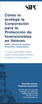 How SIPC Protects You Brochure